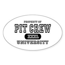 Pit Crew University Oval Decal