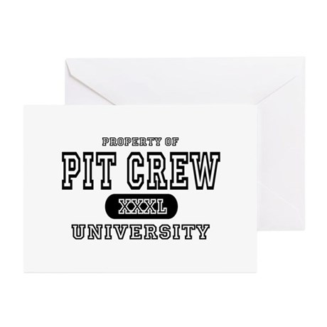 Pit Crew University Greeting Cards (Pk of 10)