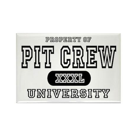 Pit Crew University Rectangle Magnet (10 pack)