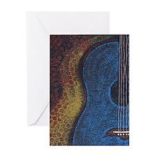 Blue Guitar Print Greeting Card