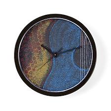 Blue Guitar Print Wall Clock