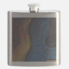 Blue Guitar Print Flask