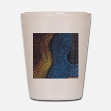 Blue Guitar Print Shot Glass