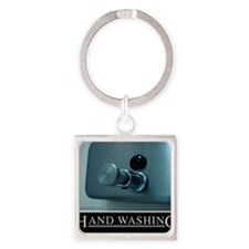 hand-washing-humor-infection-med Square Keychain