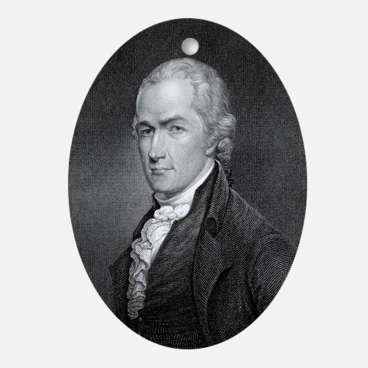 Alexander Hamilton by E Prudhomme af Oval Ornament