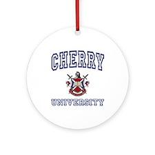 CHERRY University Ornament (Round)