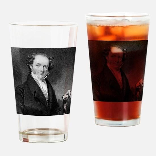 Martin Van Buren by E Wellmore afte Drinking Glass