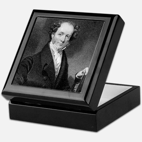 Martin Van Buren by E Wellmore after  Keepsake Box