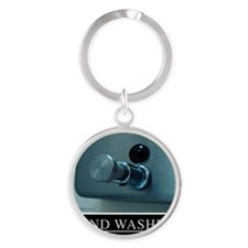 hand-washing-humor-infection Round Keychain
