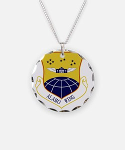 433rd Airlift Wing - Alamo W Necklace