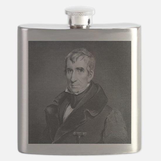 Majr Genl William Henry Harrison by RW Dods Flask