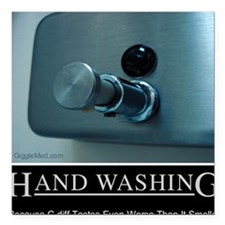 "hand-washing-humor-infec Square Car Magnet 3"" x 3"""