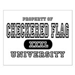 Checkered Flag University Small Poster