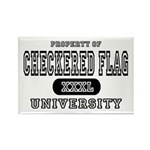 Checkered Flag University Rectangle Magnet (10 pac