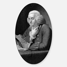 Benjamin Franklin by TB Welch after Sticker (Oval)