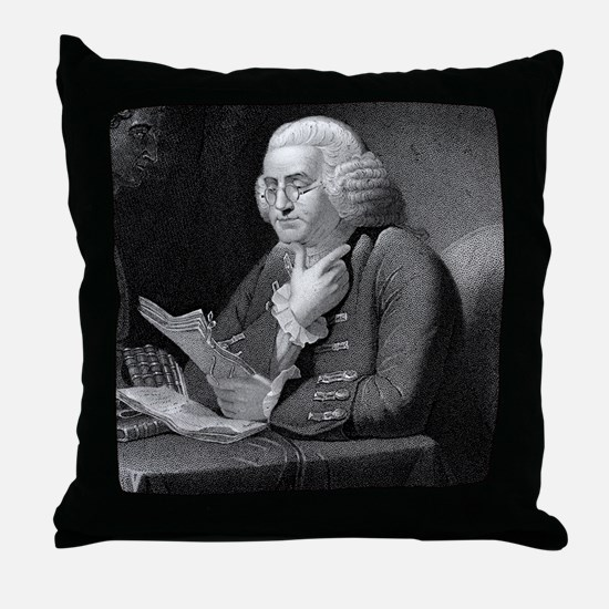 Benjamin Franklin by TB Welch after M Throw Pillow