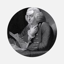 Benjamin Franklin by TB Welch after Round Ornament