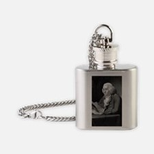Benjamin Franklin by TB Welch after Flask Necklace