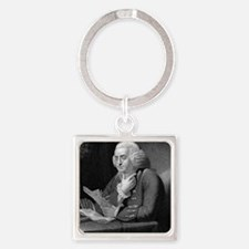 Benjamin Franklin by TB Welch afte Square Keychain
