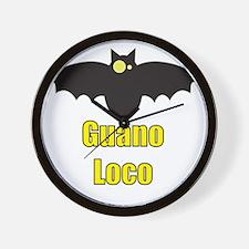 Guano Loco Bat Wall Clock