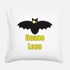Guano Loco Bat Square Canvas Pillow