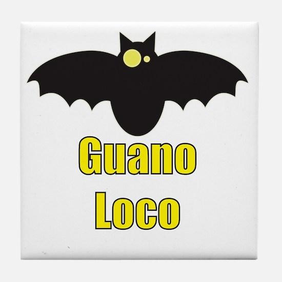 Guano Loco Bat Tile Coaster