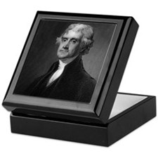 Thomas Jefferson by HB Hall after G S Keepsake Box