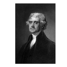 Thomas Jefferson by HB Ha Postcards (Package of 8)