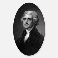Thomas Jefferson by HB Hall after G Sticker (Oval)