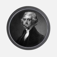 Thomas Jefferson by HB Hall after G Stu Wall Clock