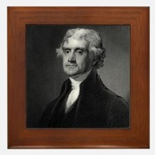 Thomas Jefferson by HB Hall after G St Framed Tile