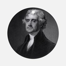 Thomas Jefferson by HB Hall after G Round Ornament