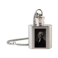Thomas Jefferson by HB Hall after G Flask Necklace