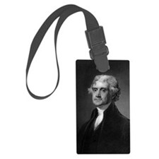 Thomas Jefferson by HB Hall afte Luggage Tag