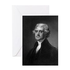 Thomas Jefferson by HB Hall after G  Greeting Card