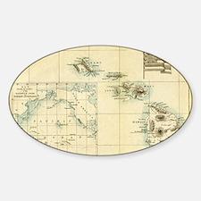 Map of Hawaii by London Longman  Co Decal