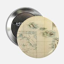 "Map of Hawaii by London Longman  Co - 2.25"" Button"