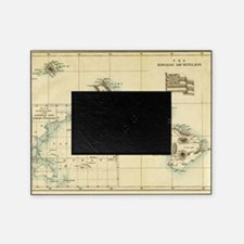 Map of Hawaii by London Longman  Co  Picture Frame
