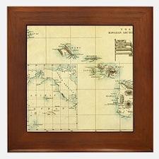 Map of Hawaii by London Longman  Co -  Framed Tile