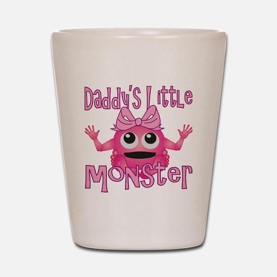 Girl Daddys Little Monster Shot Glass