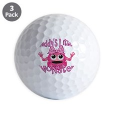 Girl Daddys Little Monster Golf Ball