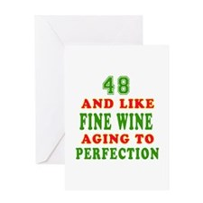 Funny 48 And Like Fine Wine Birthday Greeting Card