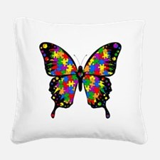 autismbutterfly Square Canvas Pillow