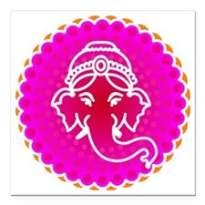 "Ganesh to refresh! Square Car Magnet 3"" x 3"""
