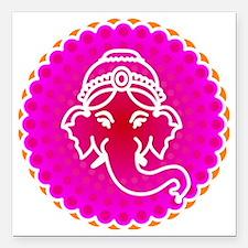 "Ganesh to refresh! Square Car Magnet 3"" x 3"""