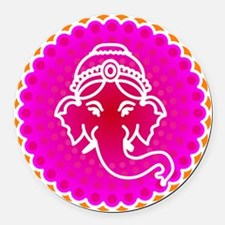 Ganesh to refresh! Round Car Magnet