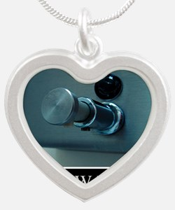 hand-washing-humor-infection Silver Heart Necklace