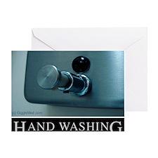 hand-washing-humor-infection-lg3 Greeting Card