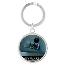 hand-washing-humor-infection-lg3 Round Keychain