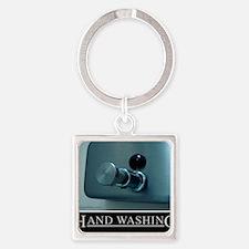 hand-washing-humor-infection-lg3 Square Keychain
